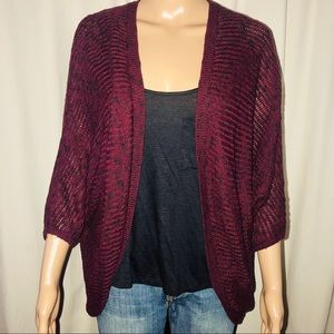 Garage marked open front cardigan